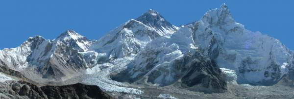 Mount Everest from the Kala Patthar. View from Southwest.