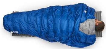 Backcountry quilt as a great tool for belly sleepers.