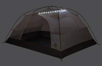 Enough light for ordinary tent routine.