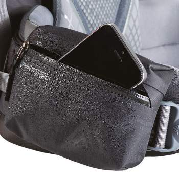 The weather resistant hip belt pocket.