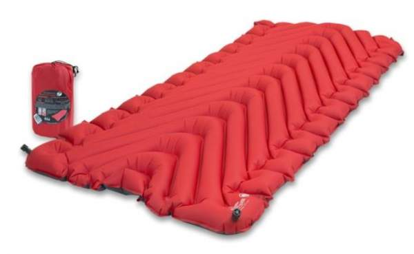 Klymit Static V Luxe Insulated Sleeping Pad.