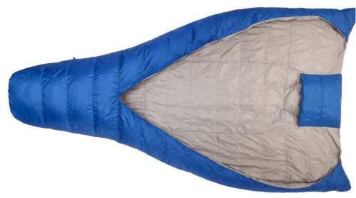 This picture shows the complete structure: the foot pocket, the opening and the wings and hand pockets, and the hood.