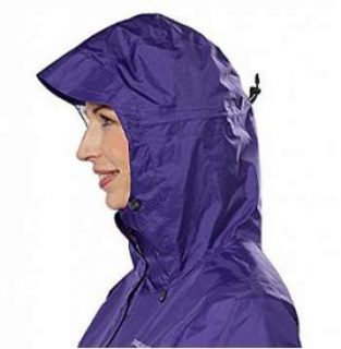 The hood with a brim and with adjustment elements.