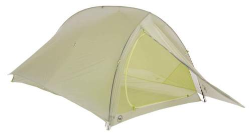 The Big Agnes Fly Creek 2 Platinum HV tent with the rain fly and its single front door.