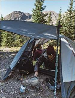 Very useful awning created with the help of trekking poles. & New 2107 Kelty Gunnison 1 With Footprint - Tent With Awning ...
