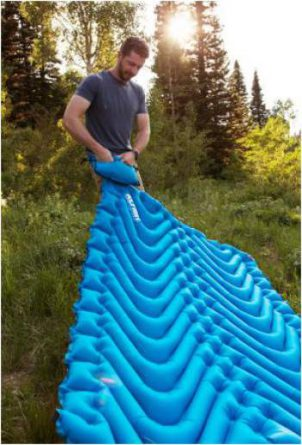 Inflating is easy with the included air bag pump.