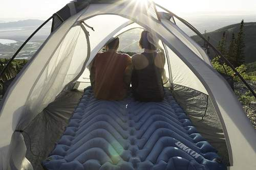 The Klymit Double V Sleeping Pad fits nicely in 2-person tents.