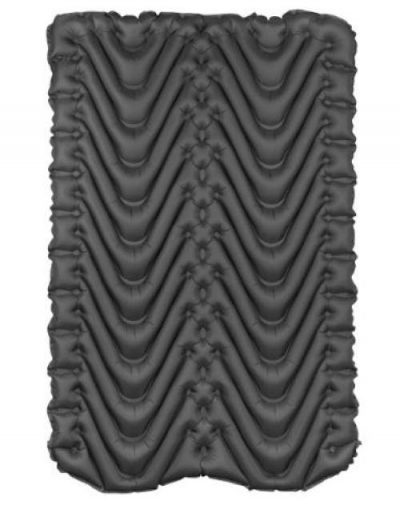 Klymit Double V Insulated Sleeping Pad - the bottom with the double V or W baffles.