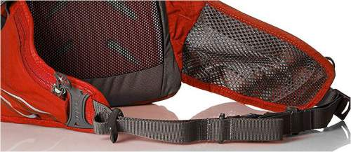 The hip belt is a breathable mesh and it contains two zippered pockets.