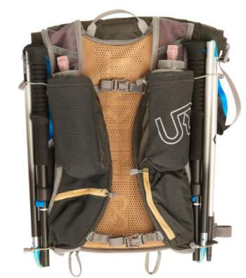 Impressive storage capacity on the shoulder straps, with four pockets.