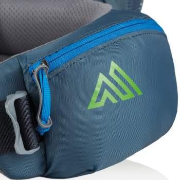 Very useful zippered hip belt pockets.