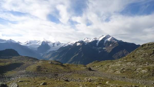 Pizzo Tresero across the Santa Caterina di Valfurva valley.