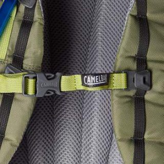 The ladder type sternum strap attachment.
