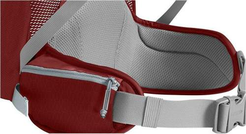 Massive lumbar padding and well padded hip belt.