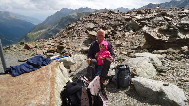 The best moment - a Swiss man with his grandchild, I met them at around 2800 m.