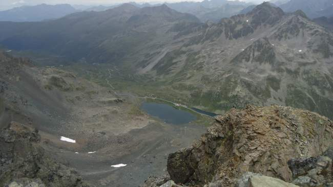The Fluela Pass seen from the summit.