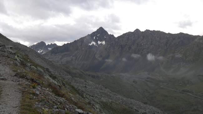Fluela Schwarzhorn as seen from my earlier tour to Fluela Wisshorn. The Fluela Pass is below.