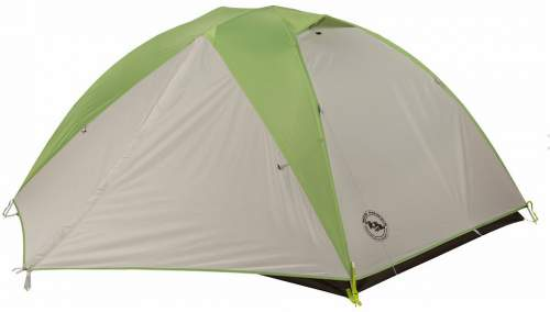 This is the tent with the fly and closed vestibules. Observe the vents on the top.