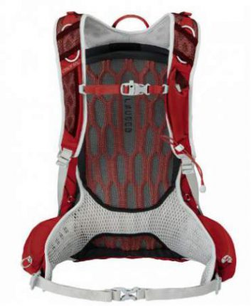 The suspension system with the accordion type back foam padding and the mesh.