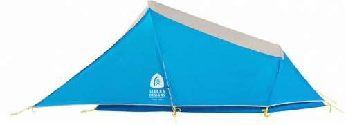 Non-freestanding tent with a full coverage fly.