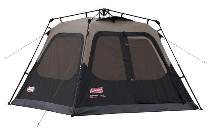 Coleman Instant Tent 4 Person - with integrated fly.