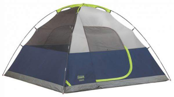 Here is the tent shown without the fly so you can see the poles in sleeves.