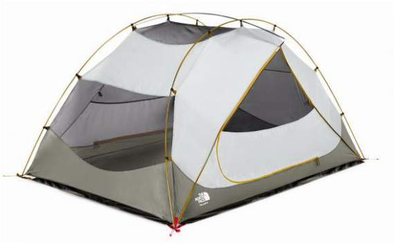 The North FaceTalus 4 Tent shown without the fly.