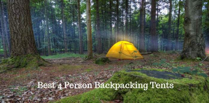 Best 4 Person Backpacking Tents.