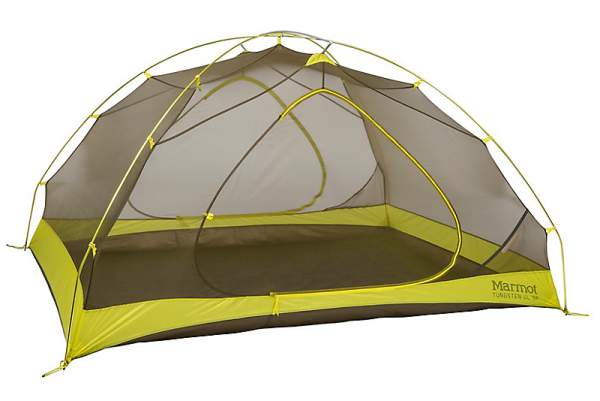 Marmot Tungsten UL 3P Backpacking Tent shown without the fly.