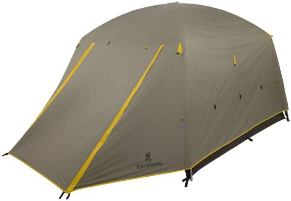 Here is the tent with the closed vestibule. In such a configuration this tent can withstand a lot assuming that it is staked out properly.