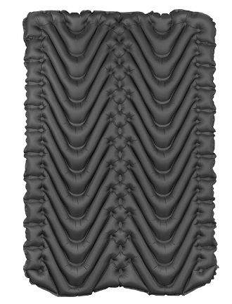 This is the Klymit Insulated Double air pad, bottom view.