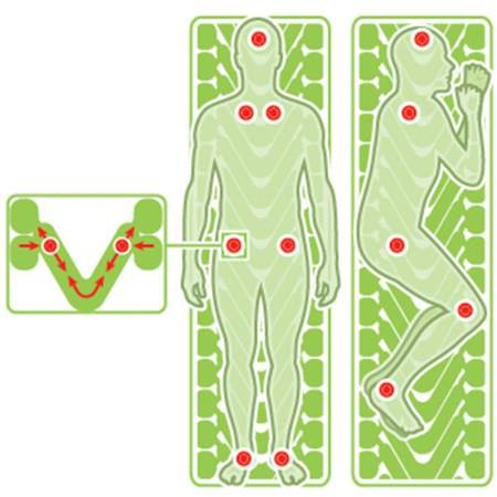 Body Mapping for an optimal support.