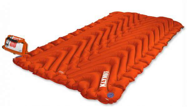 Klymit Insulated Double V Sleeping Pad - inflatable and insulated 4-season tool.