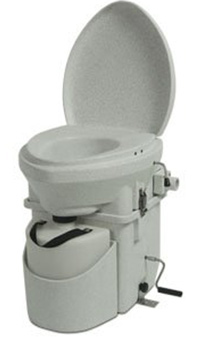 Nature's Head Dry Composting Toilet with Standard Crank Handle.