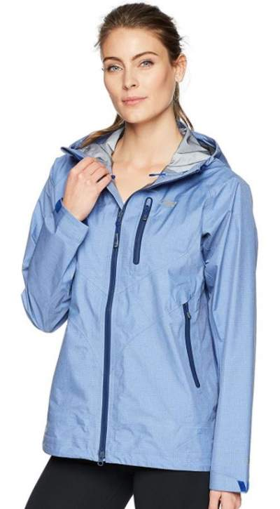 Outdoor Research Optimizer jacket for women.