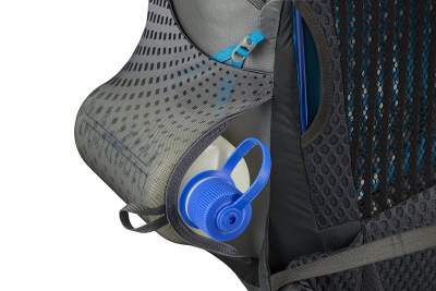Dual access side pockets and inside out compression straps.