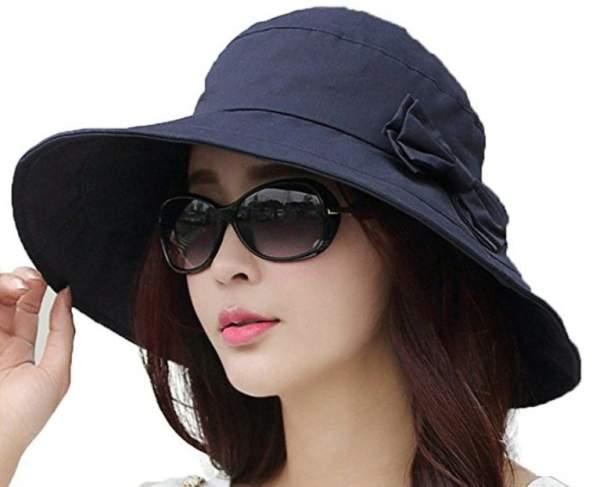 SiggiHat Womens UPF50 Cotton Packable Sun Hat.
