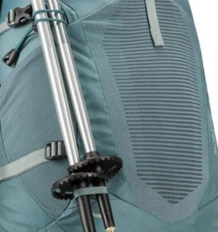 The attachment system for trekking poles.