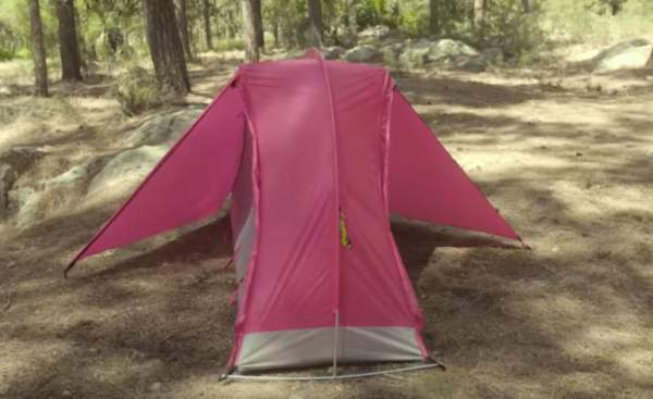 This is a solo tent but with two doors and two vestibules.