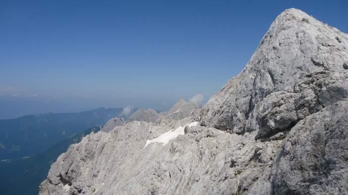 The summit of Prisojnik, the picture taken when descending.