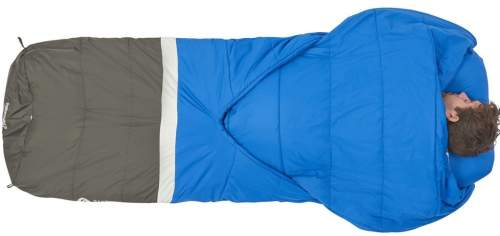 The bag is suitable for stomach sleepers as well, here the arm pockets play a role to wrap the comforter around.