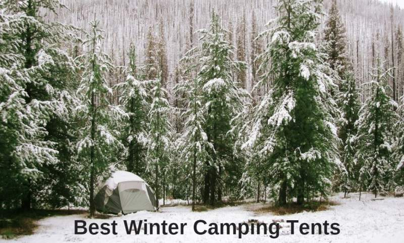 Best winter camping tents - a tent in the woods.