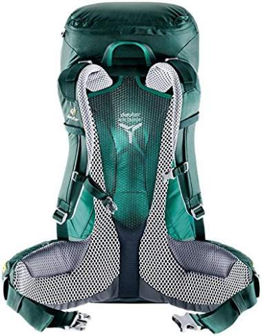 The trampoline style tensioned mesh - Deuter Futura PRO 40 pack.