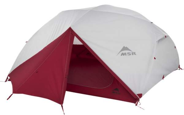 MSR Elixir 4-Person Lightweight Backpacking Tent.