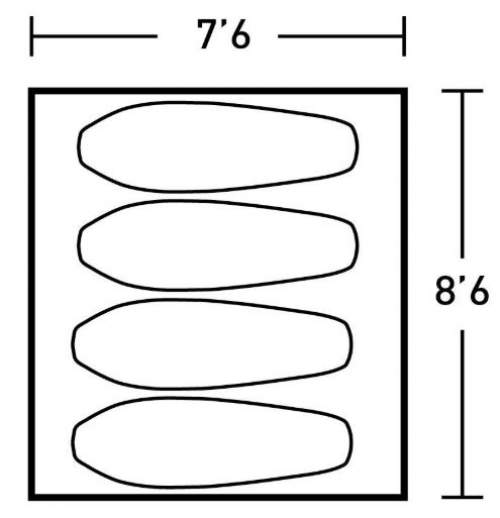 The floor dimensions.
