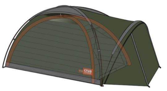 The Cocoon insulated tent shown schematically inside the Duo Tent.