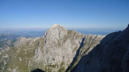 Mangart seen from Jalovec summit ridge. Those cliffs are 2 kilometers high.