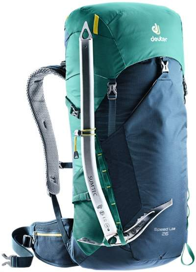 Attachment loops for trekking poles and ice axes.