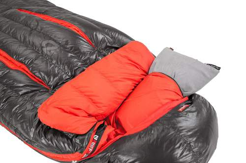 Three features - the blanket fold, the thermo gills, and the pillow pocket in the hood.