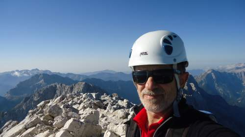 A selfie from the summit.